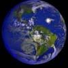 Снимок Земли с ураганом