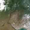 Волга и Поволжье из космоса